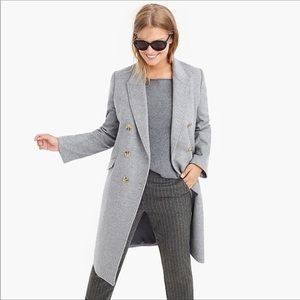 NWT. J. Crew Long topcoat in wool-cashmere